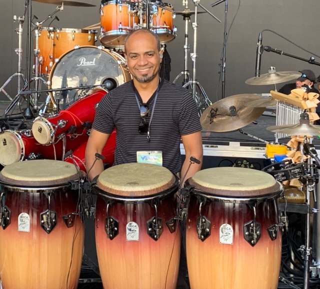 Eric Velez with Congas