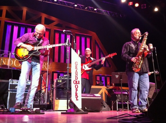 Sean O'Bryan Smith with Larry Carlton at Grand Ole Opry